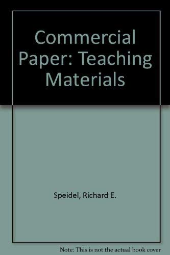 9780314612823: Commercial Paper: Teaching Materials (American Casebooks)