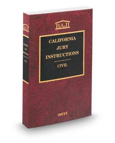 9780314614803 California Jury Instructions Civil Baji Abebooks