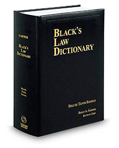 9780314621306: BLACK'S LAW DICTIONARY; DELUXE 10TH EDITION