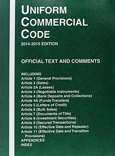 9780314622952: Uniform Commercial Code, 2014-2015 ed.