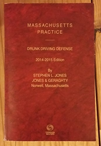 9780314625052: Massachusetts Practice - Drunk Driving Defense (2014-2015 Edition)