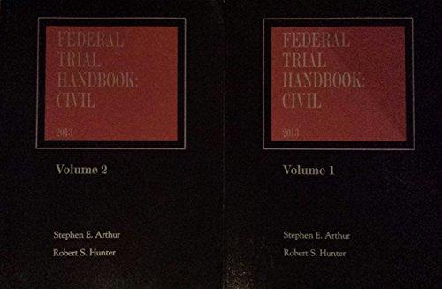 9780314627407: Federal Trial Handbook: Civil (2013, Two Volume Set)