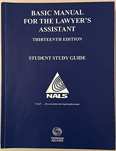 9780314631329: Basic Manual for the Lawyer's Assistant