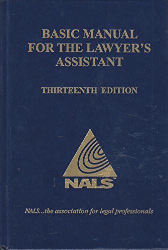 9780314631657: Nals Basic Manual for the Lawyer's Assistant
