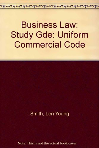 9780314632883: Business Law: Uniform Commercial Code: Study Gde