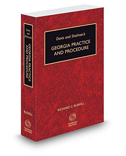 9780314633521: Davis & Shulman's Georgia Practice and Procedure, 2015-2016 ed.
