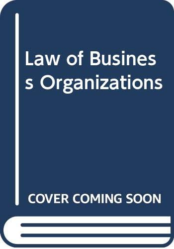 9780314633965: The Law of Business Organizations, Second Edition