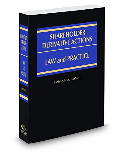 9780314641243: Shareholder Derivative Actions: Law and Practice, 2015-2016 ed.