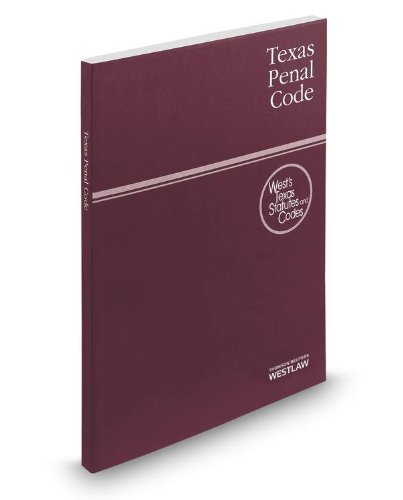 9780314658166: Texas Penal Code 2014: With Tables and Index