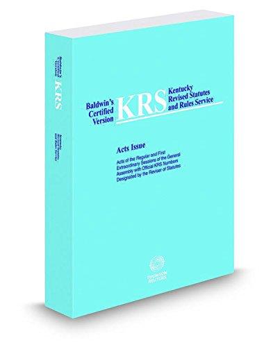 Baldwin's® Kentucky Revised Statutes Acts Issue: Banks-Baldwin