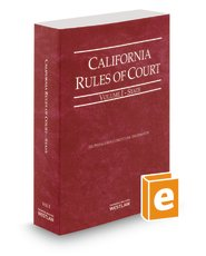 9780314662866: California Rules of Court State 2014 (California Rules of Court. State and Federal)