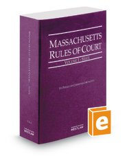 9780314663511: Massachusetts Rules of Court, Vol. 1: State