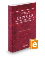 9780314665218: Hawaii Court Rules - Federa Key Rules, 2014 ed. (Vol. 2A, Hawaii Court Rules)