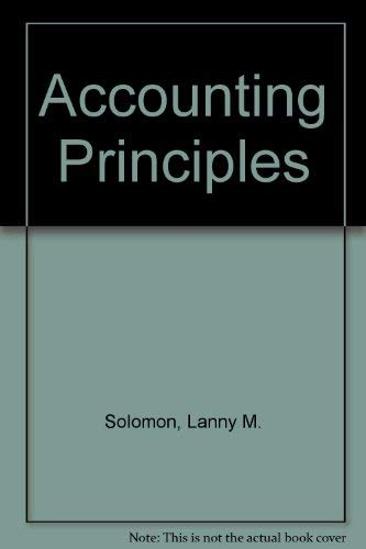 9780314666352: Accounting Principles Third Edition