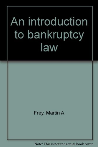 9780314668127: An introduction to bankruptcy law