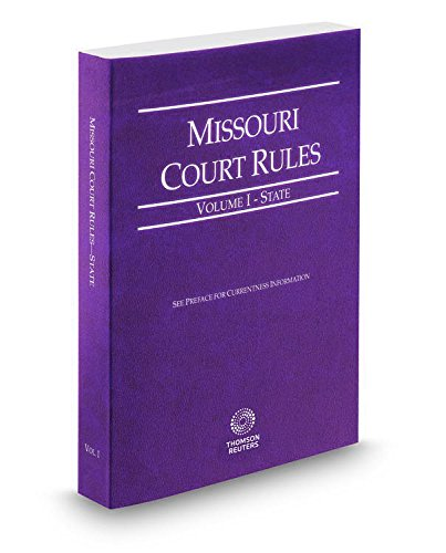 9780314673930: Missouri Rules of Court - State 2015