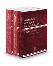 9780314674203: McKinney' s New York Rules of Court - State, 2016 ed. (Vol. I, New York Court Rules)