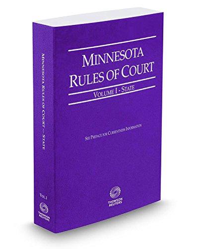 9780314681041: Minnesota Rules of Court - State, 2016 ed. (Vol. I, Minnesota Court Rules)