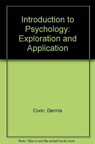 9780314688538: Introduction to Psychology: Exploration and Application