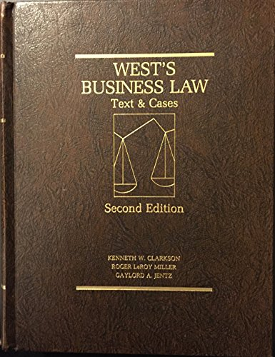 9780314696410: Business Law: Text and Cases