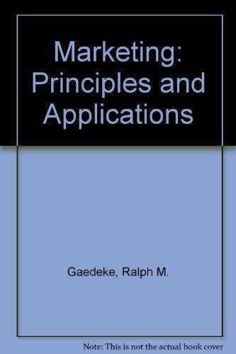 9780314696496: Marketing, Principles and Applications