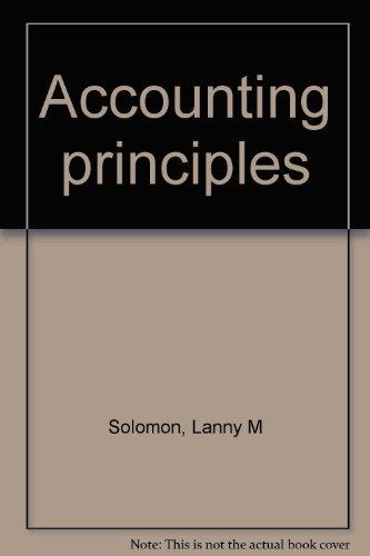 9780314700452: Accounting principles