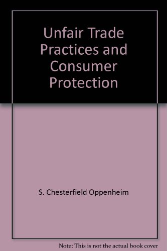 9780314703651: Unfair trade practices and consumer protection: Cases and comments (American casebook series)