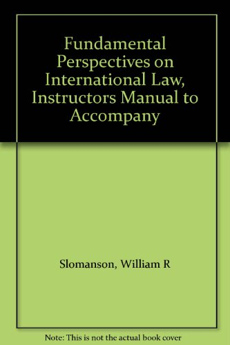 9780314703842: Fundamental Perspectives on International Law, Instructors Manual to Accompany