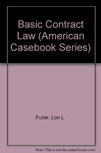 9780314718587: Basic Contract Law (American Casebook Series)