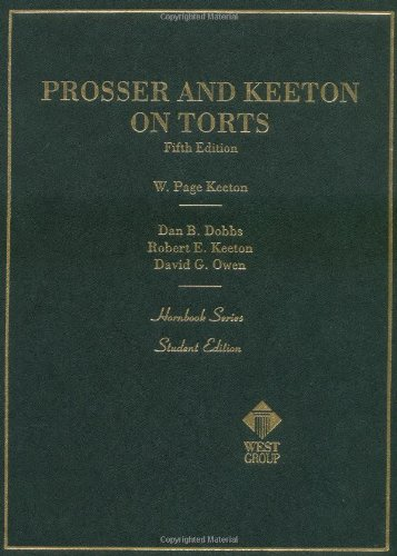 9780314748805: Prosser and Keeton on Torts, 5th Edition