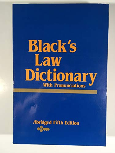 9780314771353: Black's Law Dictionary: Abridged Fifth Edition