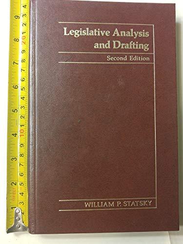9780314778154: Legislative Analysis and Drafting