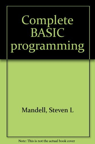 9780314779212: Complete BASIC programming