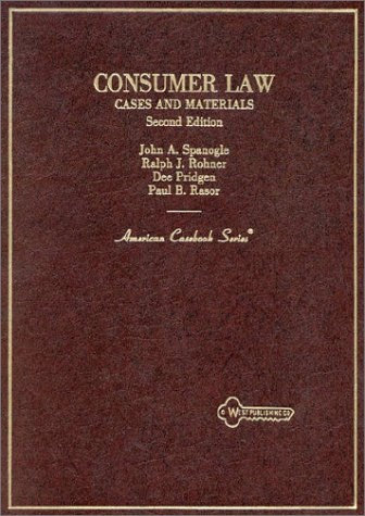 9780314786517: Consumer Law: Cases and Materials (American Casebook Series)