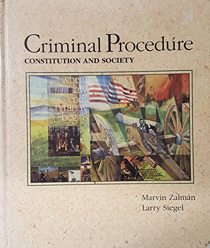 9780314787088: Criminal Procedure Constitution and Society
