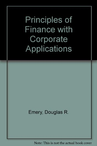 9780314792136: Principles of Finance With Corporate Applications