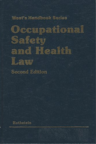 9780314792440: Occupational safety and health law (West's handbook series)