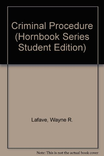 9780314793270: Criminal Procedure (HORNBOOK SERIES STUDENT EDITION)