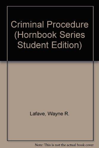 9780314793270: Criminal Procedure (Hornbook Series Student Edition)