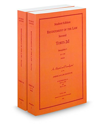 9780314801067: Restatement of the Law (2d) of Torts, softcover 2 Vols ed.