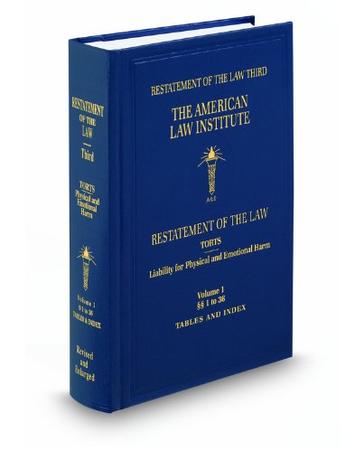 9780314801340: Restatement of the Law (3d) of Torts Liability for Physical and Emotional Harm (2 volumes)