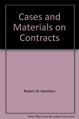 9780314805003: Cases and materials on contracts (American Casebooks)