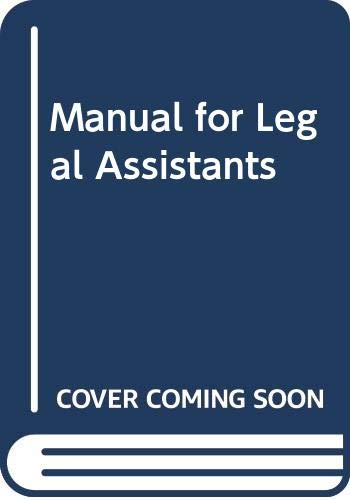 9780314807809: NALA Manual for Legal Assistants
