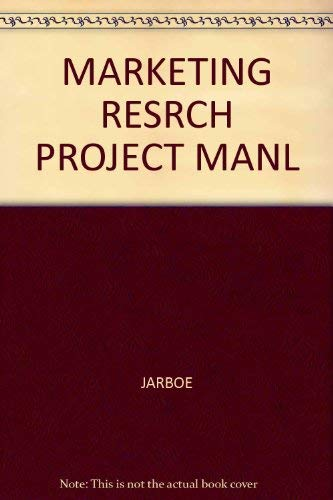 9780314828828: Marketing Research Project Manual