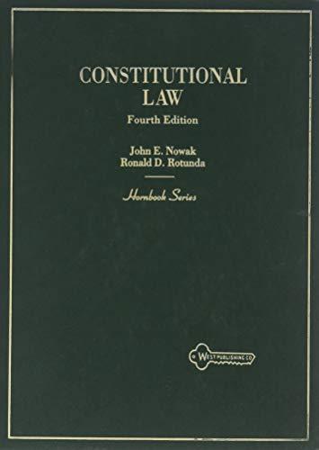 9780314842176: Constitutional Law (Hornbook Series)