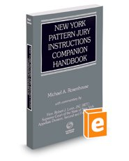 9780314842572: New York Pattern Jury Instructions Companion Handbook, 2016 ed.