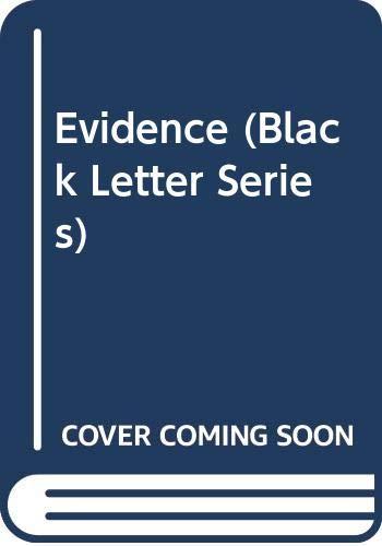 9780314844484: Evidence (Black Letter Series)