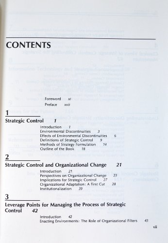 Strategic Control (West series in strategic management): Lorange, Peter and
