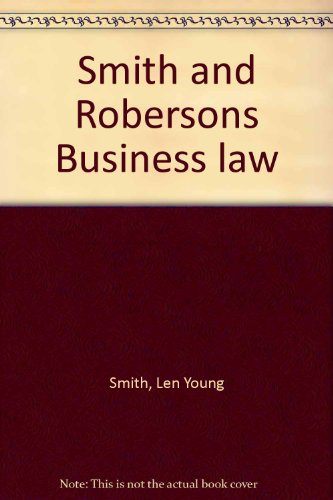 9780314853028: Smith and Roberson's Business law