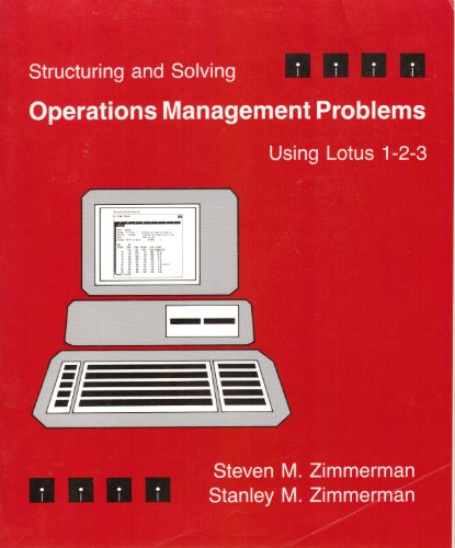 9780314853622: Structuring and Solving Operations Management Problems: Using Lotus 1-2-3
